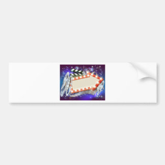 Cinema Film Arrow Sign Abstract Background Bumper Sticker