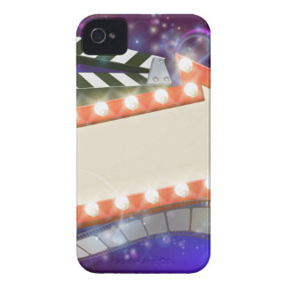 Cinema Film Arrow Sign Abstract Background Case-Mate iPhone 4 Cases