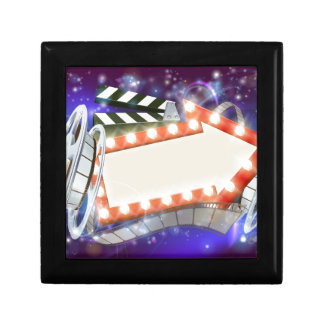 Cinema Film Arrow Sign Abstract Background Gift Box