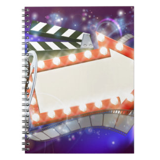 Cinema Film Arrow Sign Abstract Background Notebook