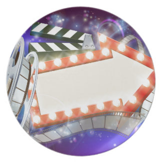 Cinema Film Arrow Sign Abstract Background Plate