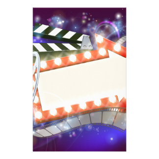 Cinema Film Arrow Sign Abstract Background Stationery