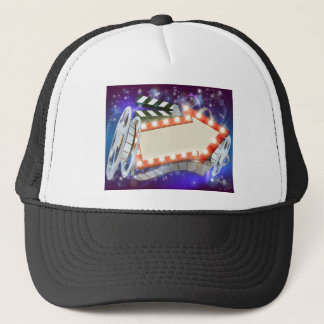 Cinema Film Arrow Sign Abstract Background Trucker Hat