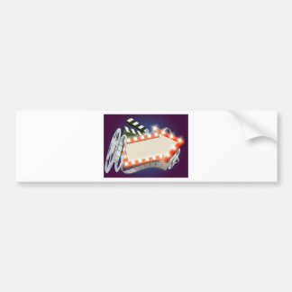 Cinema Film Arrow Sign Background Bumper Sticker