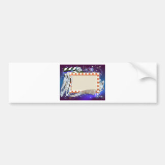 Cinema Film Sign Background Bumper Sticker