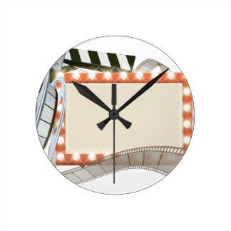 Cinema Film Sign Clock