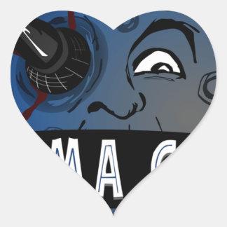 Cinema Geeks Heart Sticker