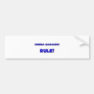 Cinema Managers Rule! Bumper Sticker