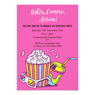 Cinema/Movie Night Invitation