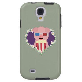 Cinema Pig with flower heart Galaxy S4 Case