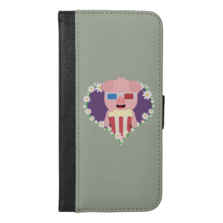 Cinema Pig with flower heart iPhone 6/6s Plus Wallet Case