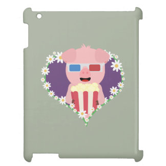 Cinema Pig with flower heart Zvf1w Cover For The iPad 2 3 4