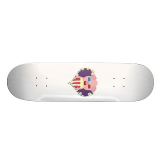 Cinema Pig with flower heart Zvf1w Custom Skateboard