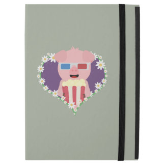 "Cinema Pig with flower heart Zvf1w iPad Pro 12.9"" Case"