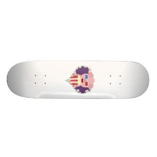 Cinema Pig with flower heart Zvf1w Skateboard