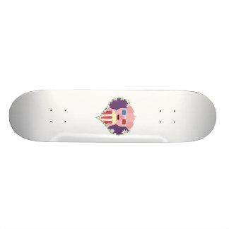 Cinema Pig with flower heart Zvf1w Skateboard Decks