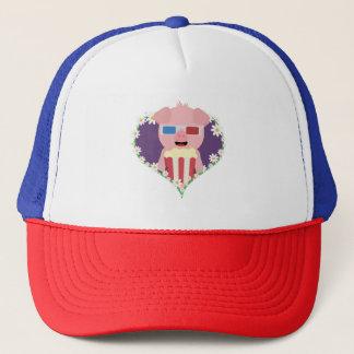 Cinema Pig with flower heart Zvf1w Trucker Hat