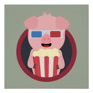 Cinema Pig with Popcorn Zpm09