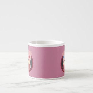 Cinema Pig with Popcorn Zpm09 Espresso Cup