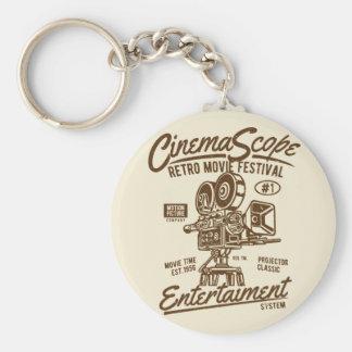 Cinema Scope Classic Retro Hollywood Camera Motion Key Ring