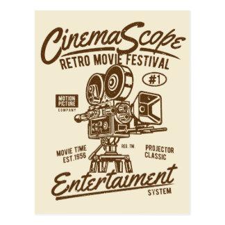 Cinema Scope Classic Retro Hollywood Camera Motion Postcard