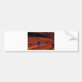 Cinema theater blue seat individual bumper sticker