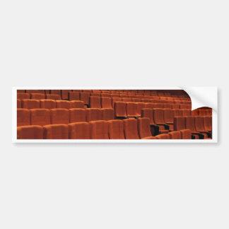 Cinema theater stage seats bumper sticker
