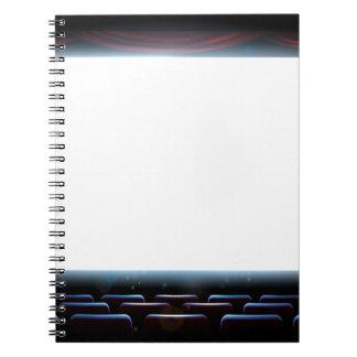 Cinema Theatre Screen Spiral Note Book