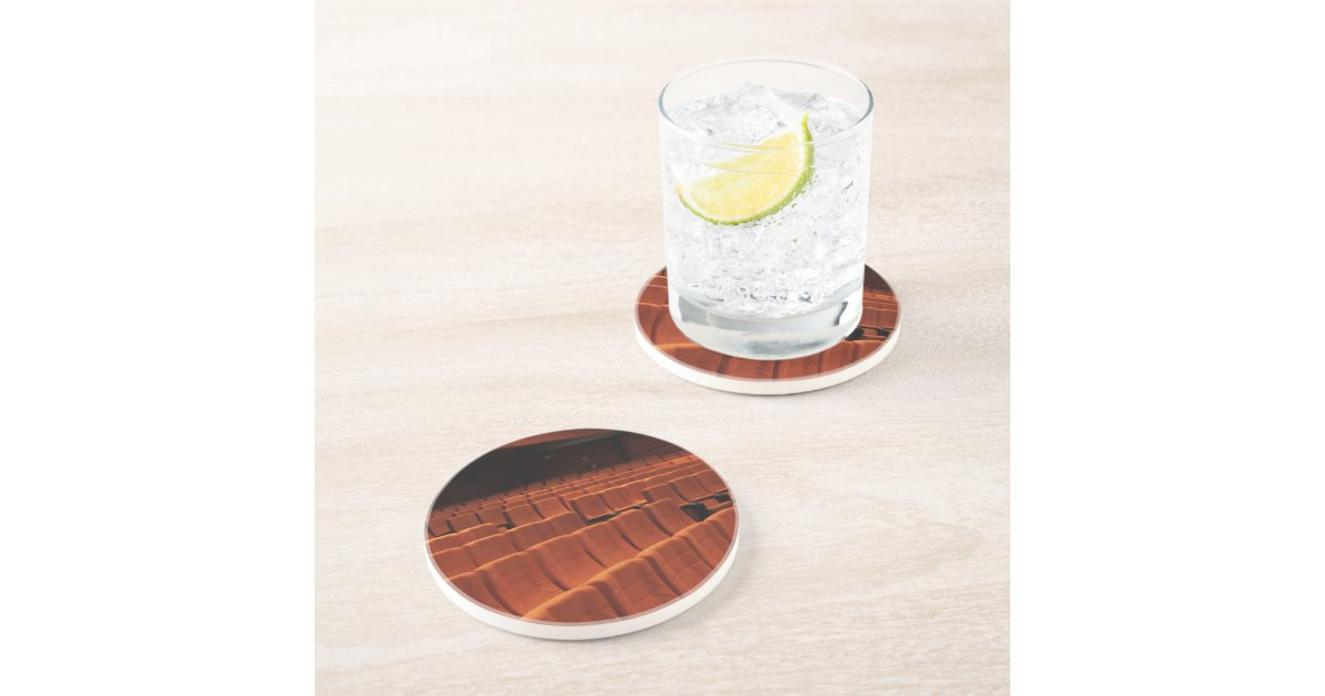 Cinema theatre stage seats drink coasters zazzle - Stone coasters for drinks ...
