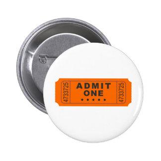 Cinema Ticket 6 Cm Round Badge
