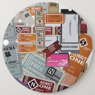 Cinema Ticket's 6 Cm Round Badge