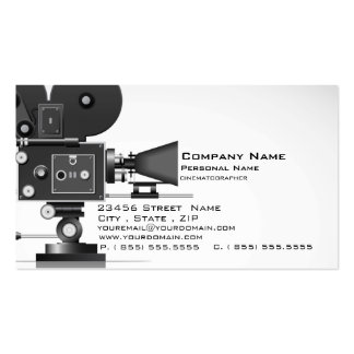 Cinematographer Cinema  Business Card