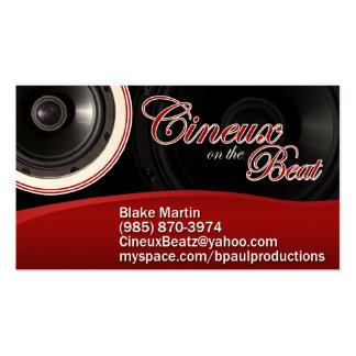 Cineux on the Beat Pack Of Standard Business Cards