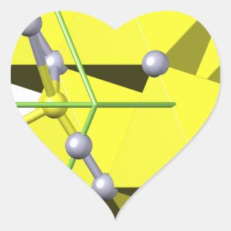 Cinnabar molecule heart sticker