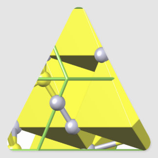 Cinnabar molecule triangle sticker