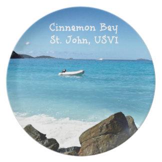 Cinnamon Bay, St. John USVI Plate