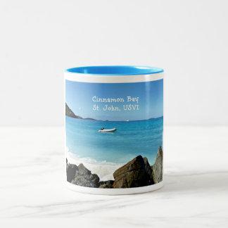 Cinnamon Bay, St. John USVI Two-Tone Coffee Mug