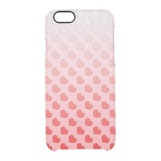 Cinnamon Candy Hearts Red and Pink Clear iPhone 6/6S Case