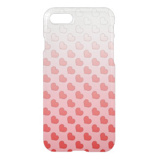 Cinnamon Candy Hearts Red and Pink iPhone 7 Case