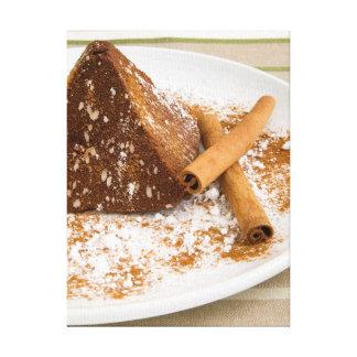 Cinnamon Chocolate Cake Dessert Canvas Prints