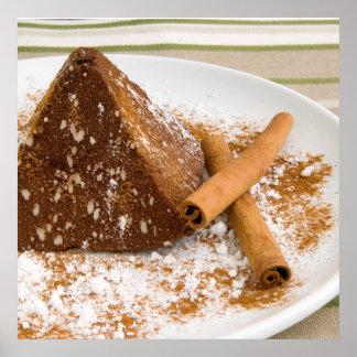 Cinnamon Chocolate Cake Dessert Print