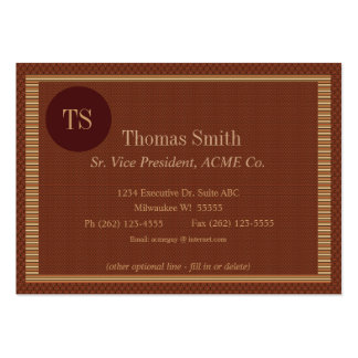 Cinnamon Circle Executive Monogram Initial Pack Of Chubby Business Cards