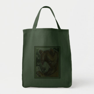 Cinnamon Grizzly Bear Canvas Bags