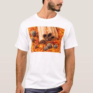 Cinnamon, peppercorn and saffron close-up T-Shirt