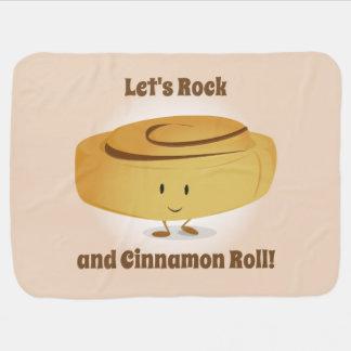 Cinnamon Roll Character | Baby Blanket