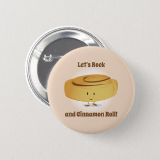 Cinnamon Roll Character   Button