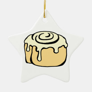 Cinnamon Roll Honey Bun Cartoon Design Funny Ceramic Ornament