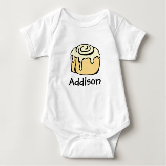 Cinnamon Roll Honey Bun Cute Cartoon Personalised Baby Bodysuit
