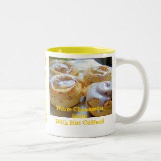 Cinnamon rolls and Coffee Two-Tone Coffee Mug