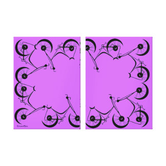 Cinnamon Shiva's ~ Pedals In Black And Lavender Canvas Print